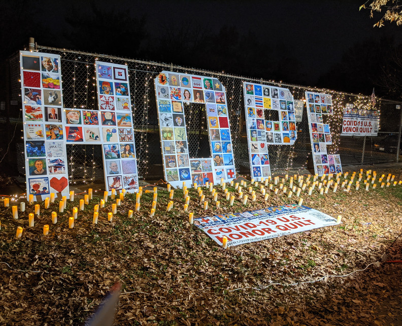 Letters of HOPE at Del Ray Artisans, Nov. 21, 2020