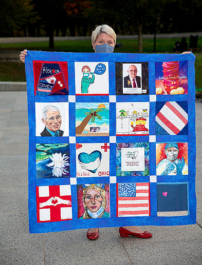 Honor Quilt Event Lincoln Memorial Oct23