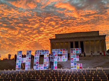 HOPE Letters Lincoln Memorial Honor Trib