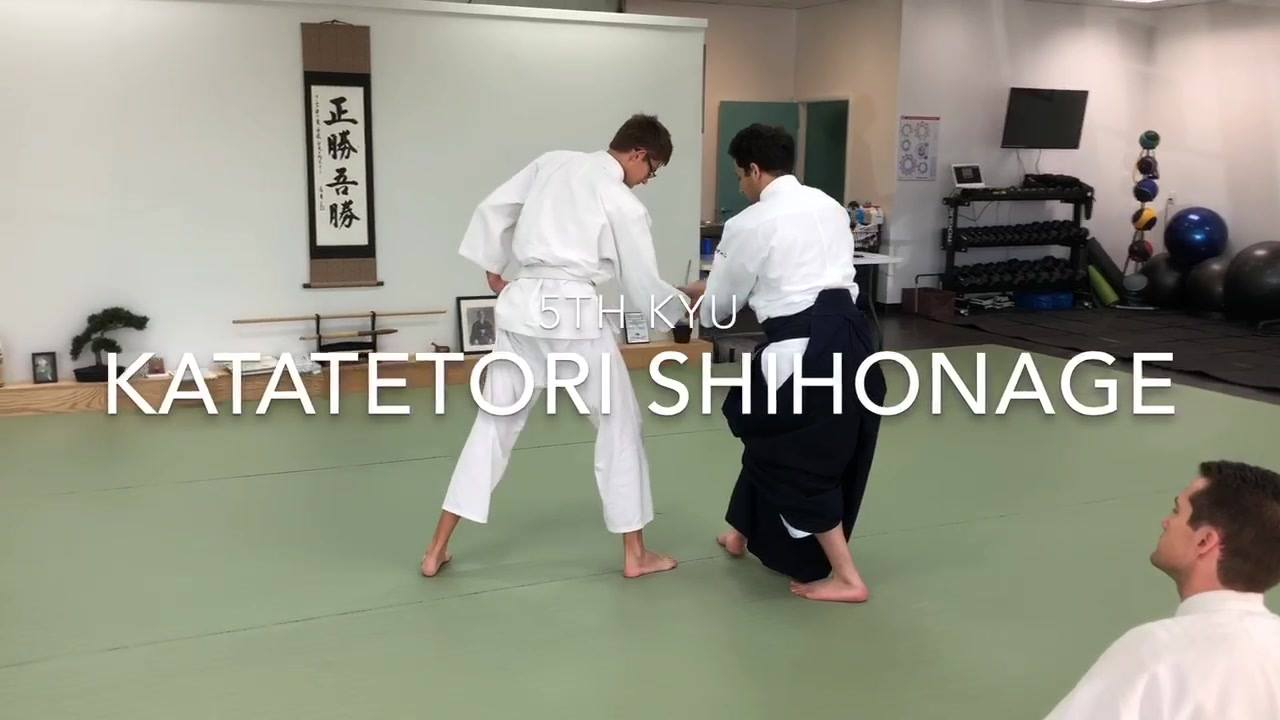 5th kyu: Katatetori Shihonage