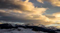 ...Spanish-Peaks Sunset...