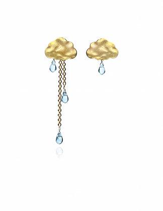 clouds, cloud earrings, rain, rainy earrings, lakoodesigns, fun jewelry, beach wear, beach style
