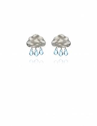 Silver Rain Cloud Earrings