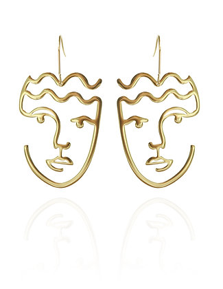 Face Earrings, LakooDesigns, face jewlrry, statement jewelry, statement style, vancouver small business, canadian business
