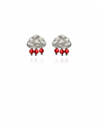 Silver Berry Cloud Earrings