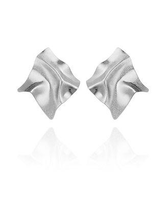 Folded Silver Earrings