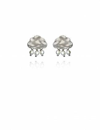 Silver Snow Cloud Earrings