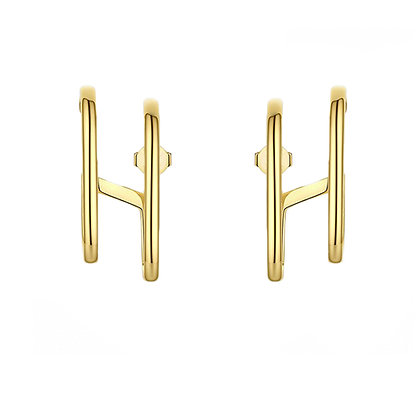 Double Gold Earring