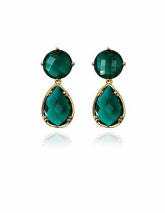 green earrings, emerald, emerald earrings, summer style, beach style, fashion 2020, lakoodesigns, green wedding