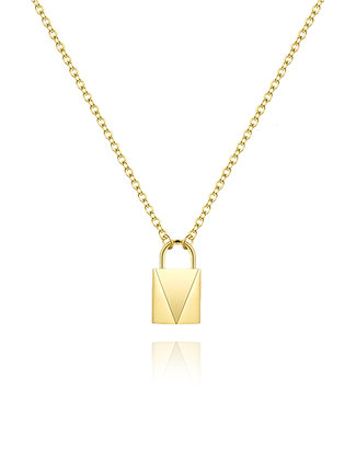 Gold Padlock, Chain Necklace,layer, layer style, layer necklace, layer chain, padlock necklace, lakoodesigns, gold chain