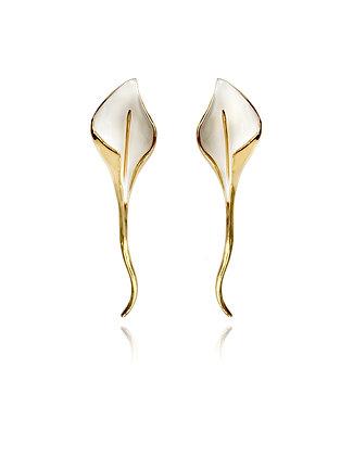 big flower earrings, statement earrings, summer earrings, white earrings, bride jewelry, bridal earrings, bridesmaid earrings