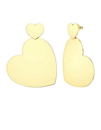 Detachable Big Heart Earrings