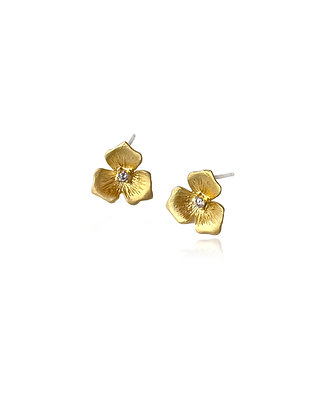 Tiny Gold Flower Earrings