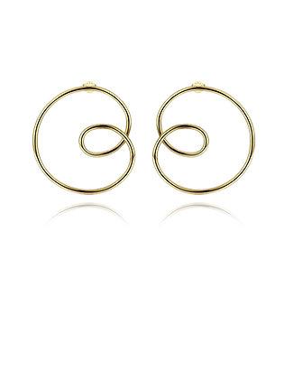 Big Spiral Loop Earring