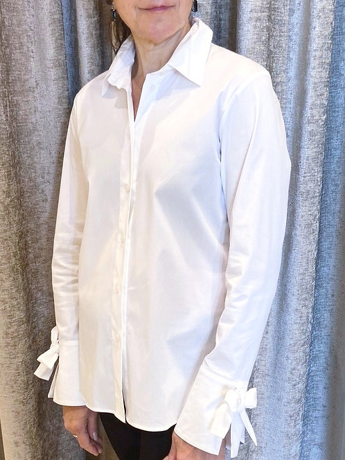 Max volmary blouse blanche white bow