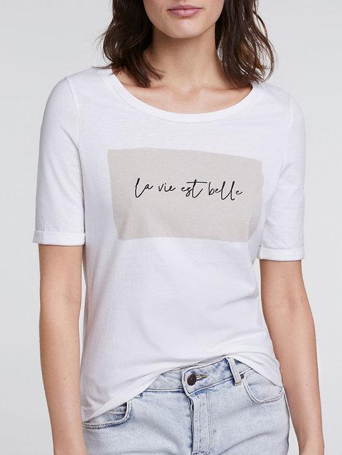 T-shirt 'La vie est belle' Oui
