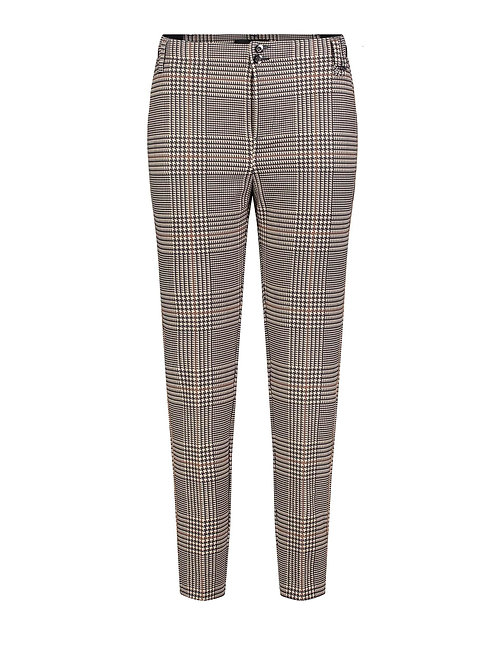 Checkered houndstooth dress pants