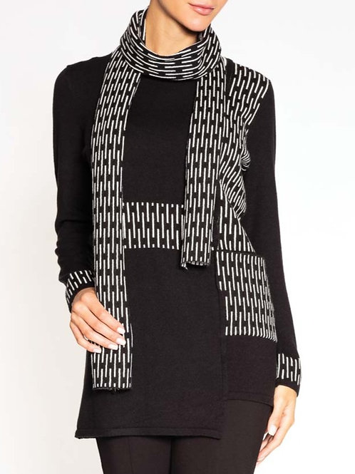 Alison Sheri black white tunic