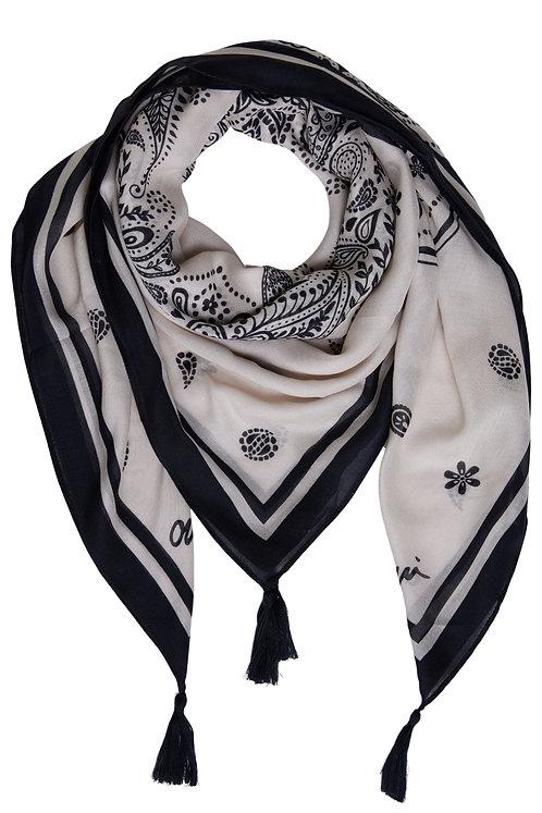 Oui printed scarf