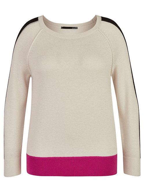 Pullover sweater crewneck black pink beige