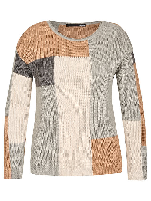 tricot knit knitted sweater color block
