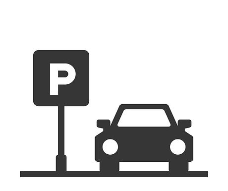 parking-area-sign-with-car-on-white-back