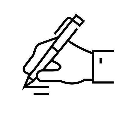 signature-line-icon-concept-sign-outline