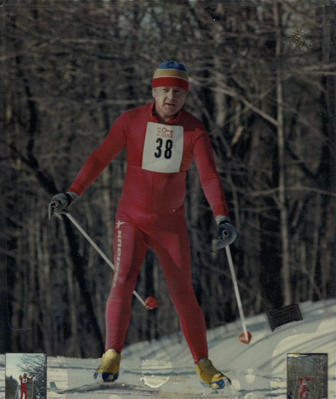 Finishing a 32K cross country ski race on the Tug Hill Plateau in upstate New York