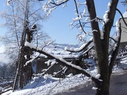 Huette im Winter