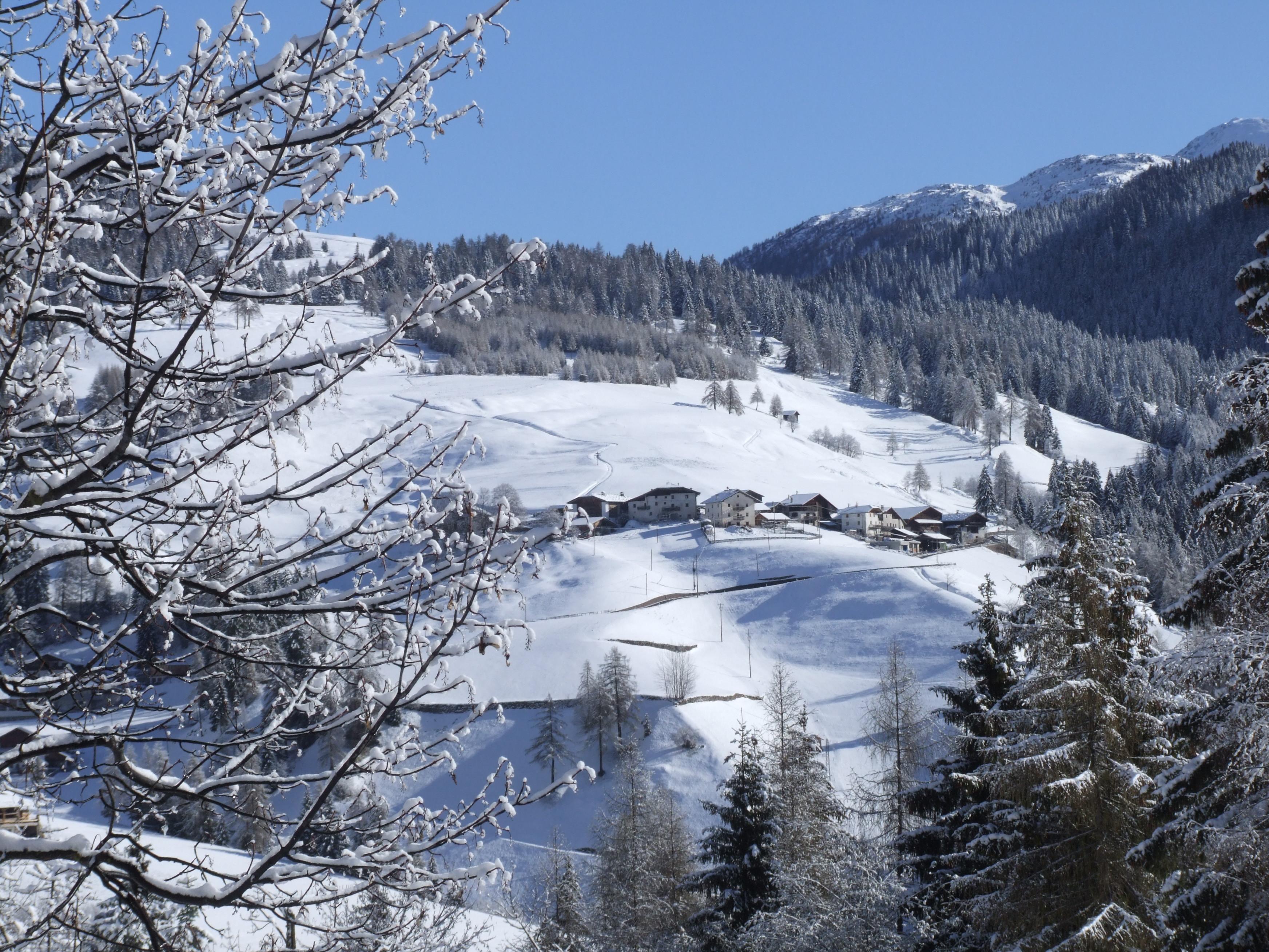 Huetten im Schnee