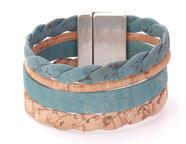Large Bicolor Cork Bracelet