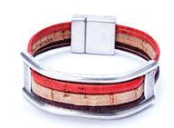 Tricolor Cork Bracelet