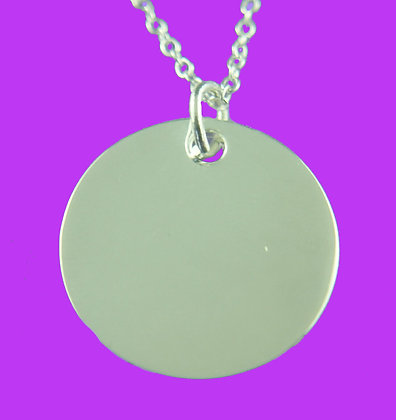 STERLING SILVER DISC 25mm x 25mm $34.50