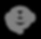 Customer Service Icon - Grijs