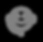 Kundenservice Icon - Grau