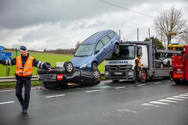 Ongeval vrachtwagen te Tiegem