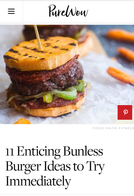 Try these bunless burger ideas