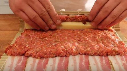 Ground meat and cheese wrapped in bacon. The result is absolutely delicious!