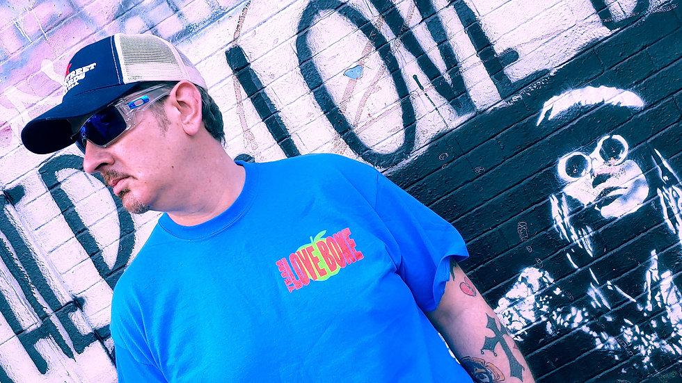 Blue Short Sleeve Air Love Bone T-shirt