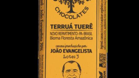 Casa Lasevicius - Chocolate Terruá Tuerê - J. Evangelista - 70% 40g