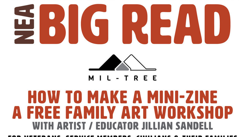 NEA BIG READ: HOW TO MAKE A MINI-ZINE - A FREE FAMILY ART WORKSHOP