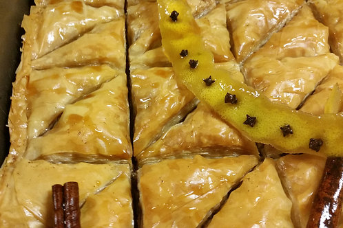 Home delivery of baklava from Angelina's Kitchen in Pittsboro, NC
