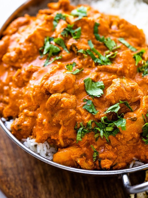 home delivery Indian Butter Chicken with Jeera Spinach Rice