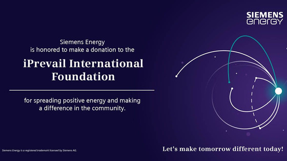 Siemens Recognizes iPrevail for Spreading Positive Energy in the Community
