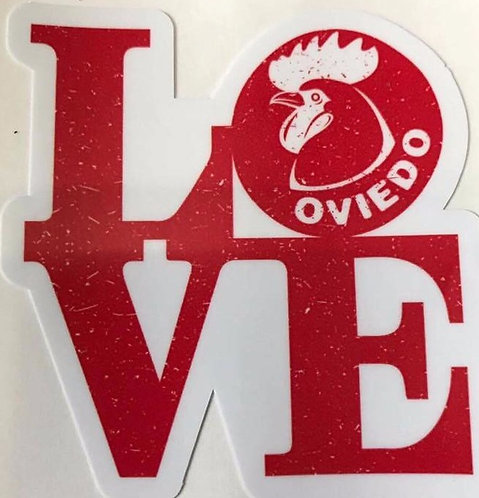 Love Oviedo Stickers