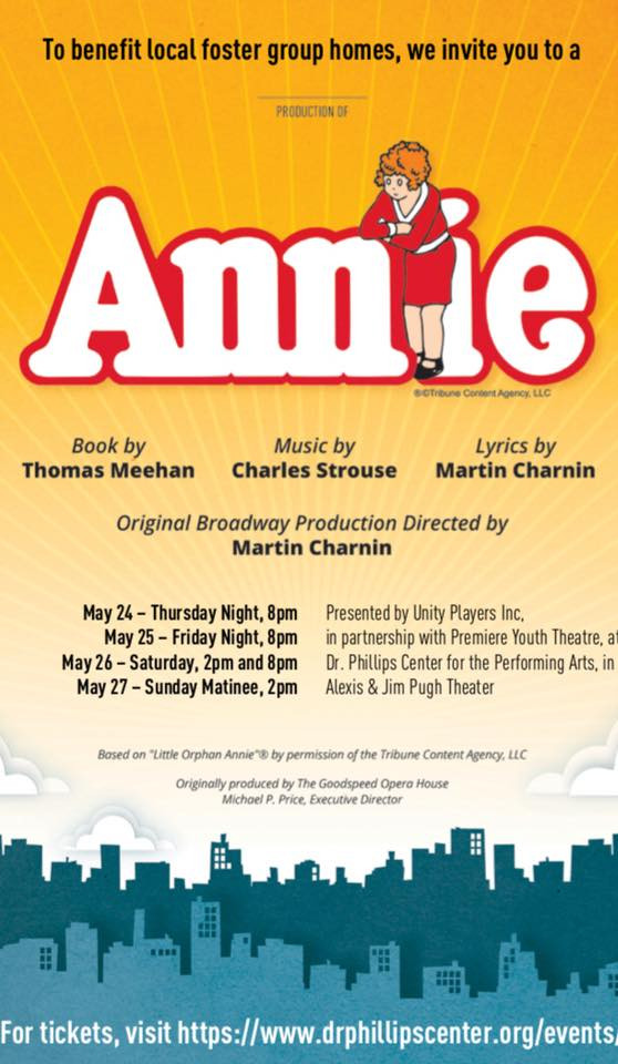 Unity Players present Annie to Benefit Foster Friends of Florida