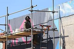 Ibrahim aan het werk bij Wowzone