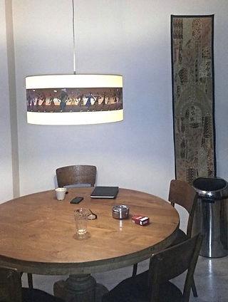 Unieke beplakte en beschilderde lampenkappen van Lodia Art in Den Haag
