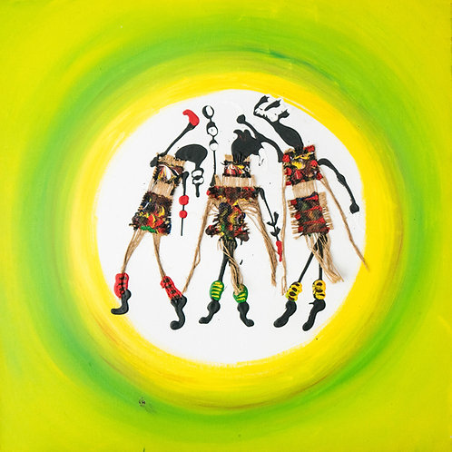 3 dansers ambath (Djola; le circoncie en francais)
