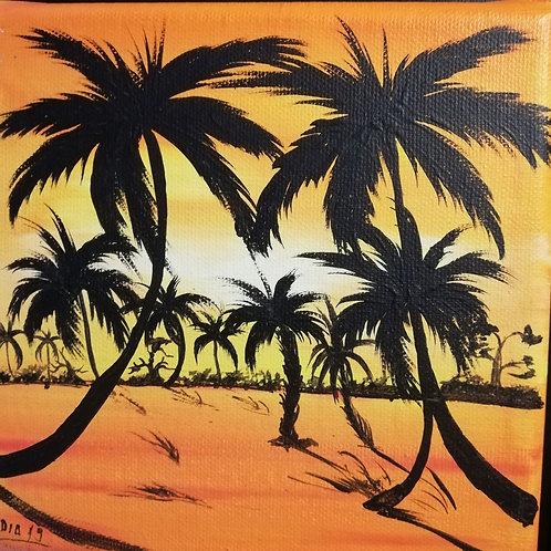 palmbomen miniatuur (15x15cm)